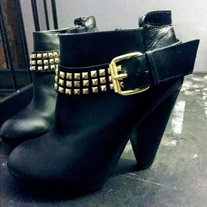 DV by Dolce Vida booties with studded gold buckle